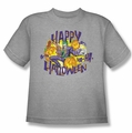 The Joker youth teen t-shirt Ha Ha Halloween heather