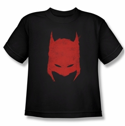 Batman youth teen t-shirt Hacked & Scratched black