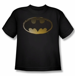 Batman youth teen t-shirt Halftone Bat black