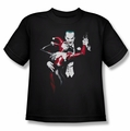 Harley Quinn youth teen t-shirt Harley Quinn and Joker black