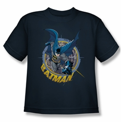 Batman youth teen t-shirt In The Crosshairs navy