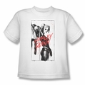 Harley Quinn youth teen t-shirt Inked Quinn white