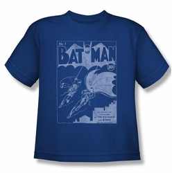 Batman youth teen t-shirt Issue 1 Cover royal
