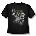 The Joker youth teen t-shirt Its All A Joke black