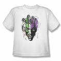 Joker youth teen t-shirt Airbrush white