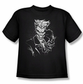 The Joker youth teen t-shirt Splatter Smile black