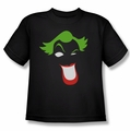 The Joker youth teen t-shirt Joker Simplified black