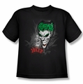 The Joker youth teen t-shirt Joker Sprays The City black