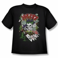 Joker youth teen t-shirt Jokers Wild black