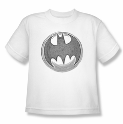 Batman youth teen t-shirt Knight Knockout white