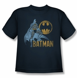 Batman youth teen t-shirt Knight Watch navy