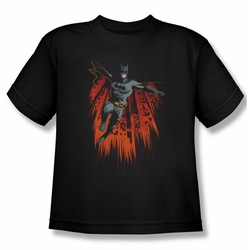 Batman youth teen t-shirt Majestic black