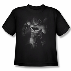 Batman youth teen t-shirt Materialized black