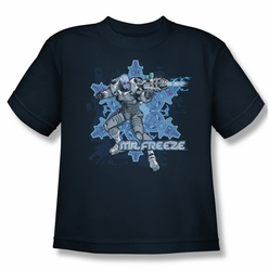 Mr Freeze youth teen t-shirt Mr Freeze navy
