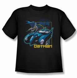 Batman youth teen t-shirt Nice Wheels black