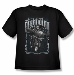 Nightwing youth teen t-shirt Biker black