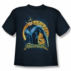 Nightwing youth teen t-shirt Moon navy