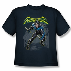 Batman youth teen t-shirt Nightwing navy