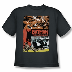 Batman youth teen t-shirt Old Movie Poster charcoal
