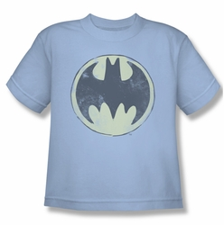 Batman youth teen t-shirt Old Time Logo light blue