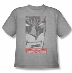Batman youth teen t-shirt Orginal Crime Fighter heather