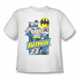 Batman youth teen t-shirt Out Of The Pages white
