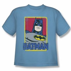 Batman youth teen t-shirt Primary carolina blue