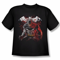 Batman youth teen t-shirt Raging Bat black