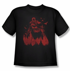 Batman youth teen t-shirt Red Knight black