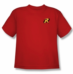 Batman youth teen t-shirt Robin Logo red