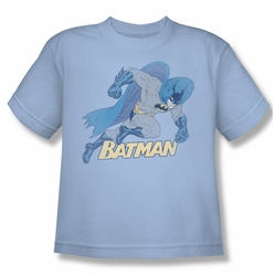 Batman youth teen t-shirt Running Retro light blue