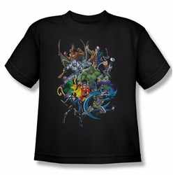 Batman youth teen t-shirt Saints And Psychos black