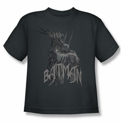 Batman youth teen t-shirt Scary Right Hand charcoal