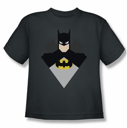 Batman youth teen t-shirt Simple Bat charcoal