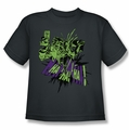 The Joker youth teen t-shirt Smell My Flower charcoal