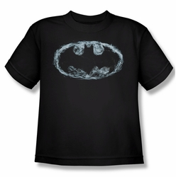 Batman youth teen t-shirt Smoke Signal black