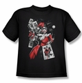 Harley Quinn youth teen t-shirt Smoking Gun black