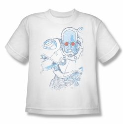 Mr Freeze youth teen t-shirt Snowblind Freeze white