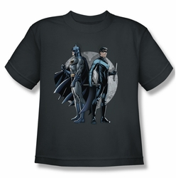 Batman youth teen t-shirt Spotlight charcoal