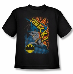 Batman youth teen t-shirt Thwack black