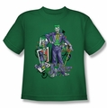 The Joker youth teen t-shirt Wild Cards kelly green