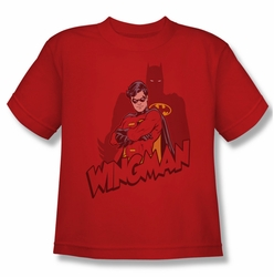 Batman youth teen t-shirt Wingman red