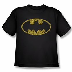 Batman youth teen t-shirt Word Logo black