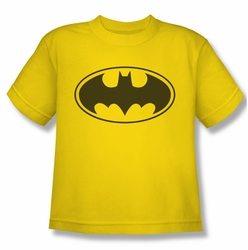 Batman youth teen t-shirt Yellow Bat yellow