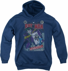 Joker youth teen hoodie #251 Distressed navy