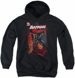 Batman youth teen hoodie #655 Cover black