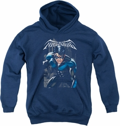 Nightwing youth teen hoodie A Legacy navy