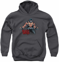 Batman youth teen hoodie Bane Flex charcoal