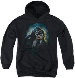 Batman youth teen hoodie Bat Cave black