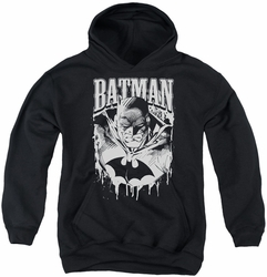 Batman youth teen hoodie Bat Metal black
